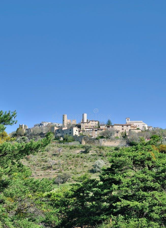 Wioska Bargeme, Verdon w?w?z, Provence, Francja zdjęcia stock