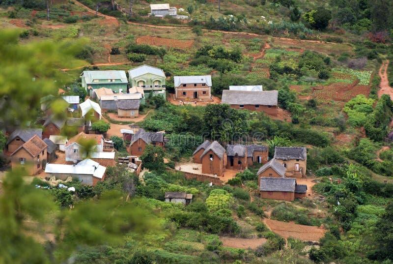 Wioska blisko Antananarivo, Madagascar zdjęcie stock