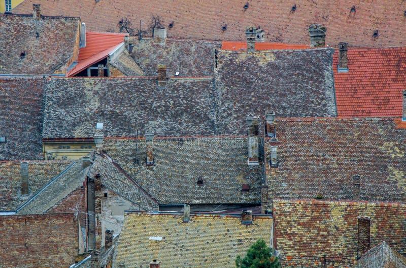 Wioska dachy, Petrovaradin zdjęcia stock