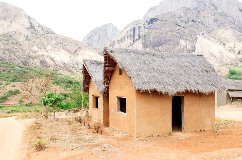 Wioska dom w Madagascar fotografia royalty free