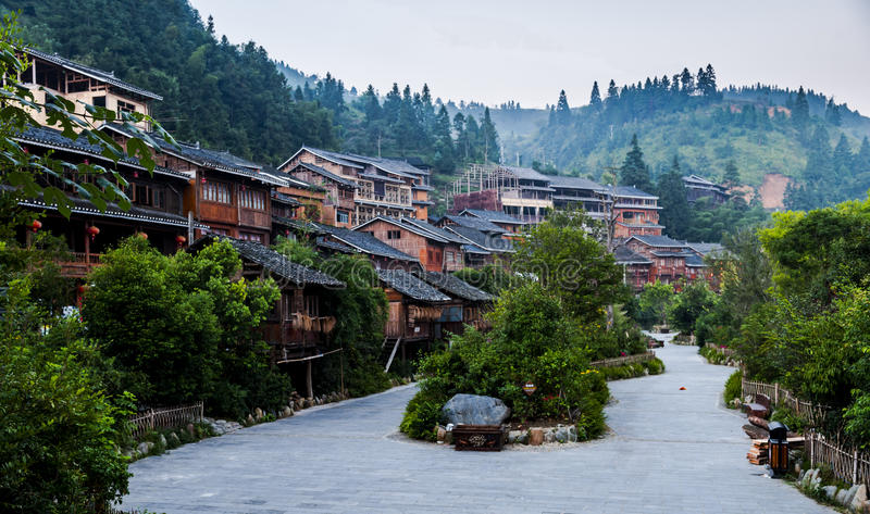 Wioska Guizhou zdjęcia royalty free