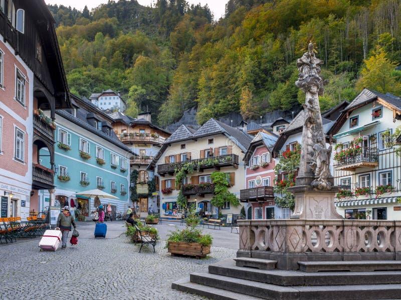 Wioska Hallstatt, Austria, Europa obrazy royalty free