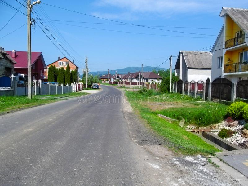 Wioska Kireshi w Zakarpattia Oblast, Ukraina obraz stock