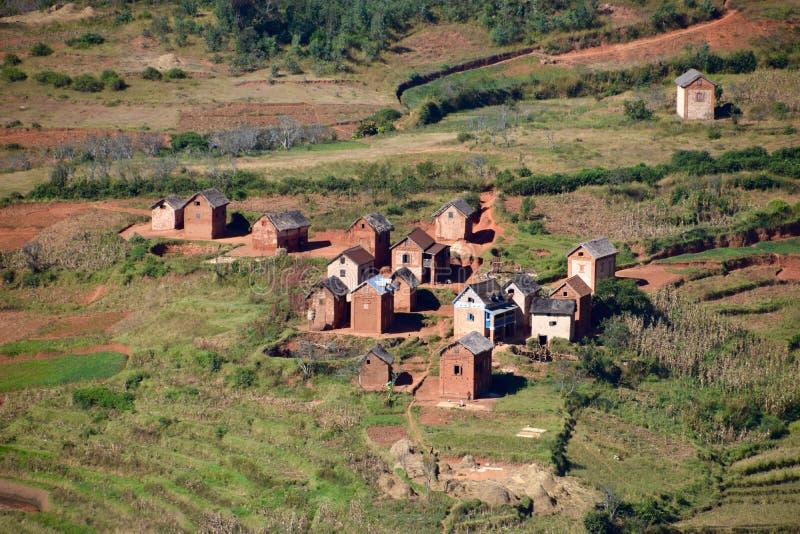 Wioska, Madagascar obraz royalty free
