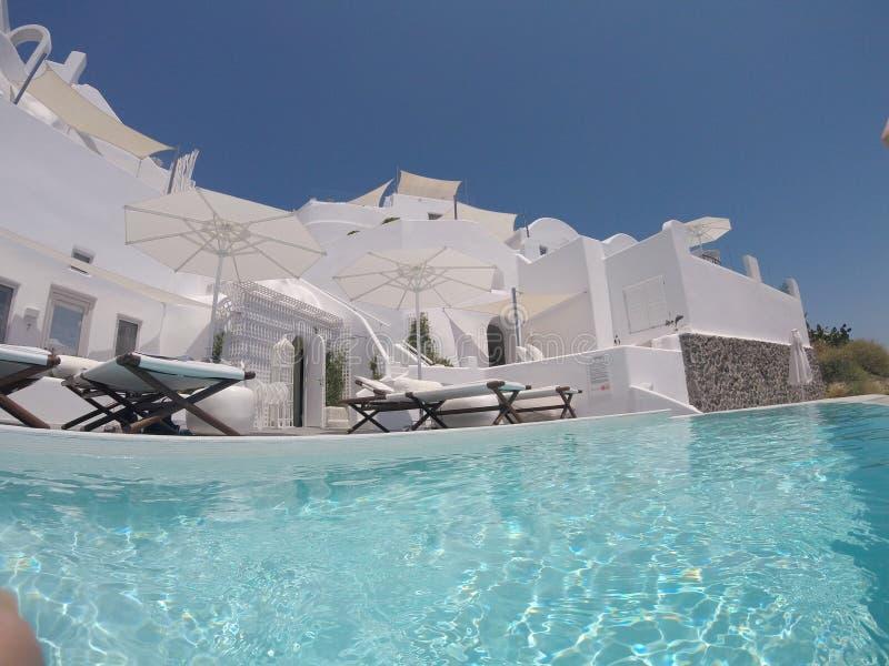 Wioska Oia, Santorini Grecja obrazy royalty free