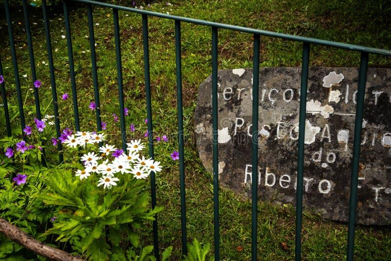 Wioska Ribeiro Frio na wyspie madera Portugalia fotografia stock