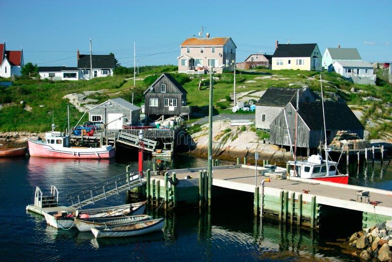 wioska rybacka obraz royalty free