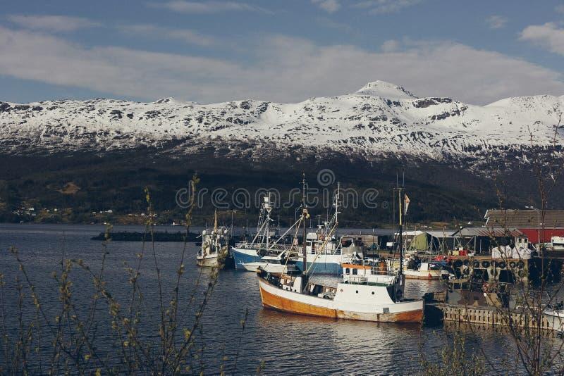 Wioska rybacka w Norwegia obraz stock