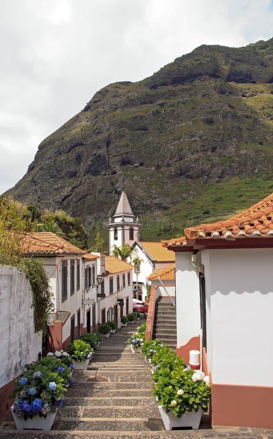 Wioska Sao Vincente, wyspa Madera obrazy royalty free