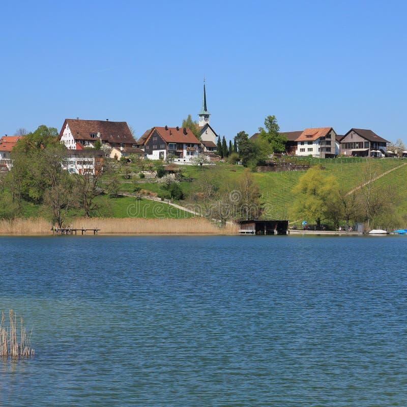 Wioska Seegraben w wiośnie zdjęcie stock