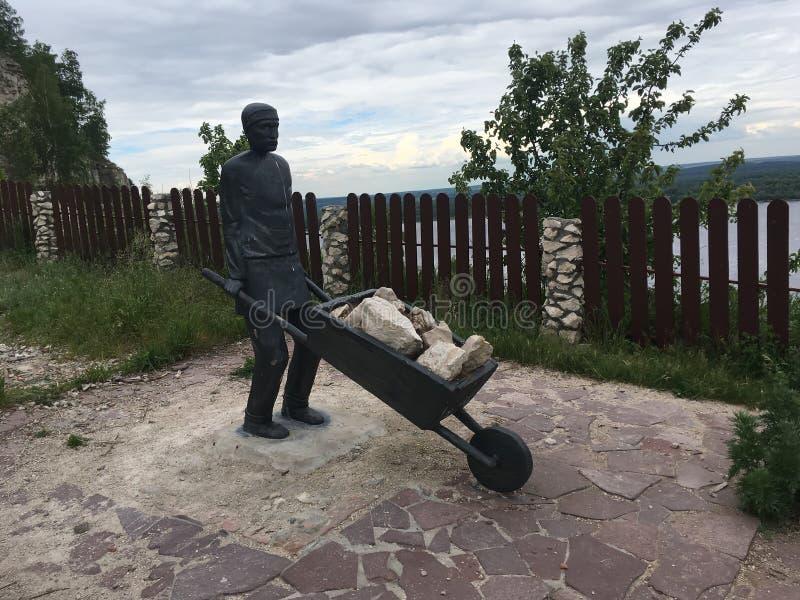 11 06 2017 wioska Shiryaevo, Samara region, Rosja - Rosyjski zabytek górnik zdjęcia royalty free