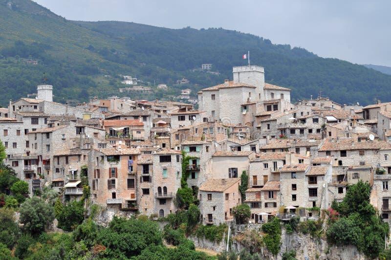 Wioska Tourrettes sura Loup w południe Francja obraz royalty free