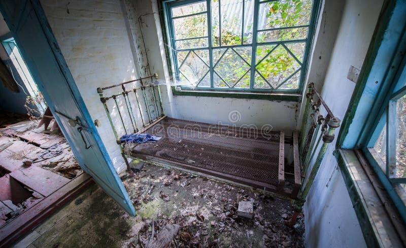 Wioska w Chernobyl strefie zdjęcie royalty free