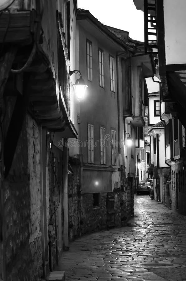 Wioska w czarny i biały obrazy stock