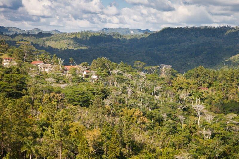 Wioska w górach Kuba zdjęcie royalty free