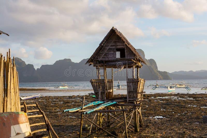 Wioska w Palawan obrazy stock