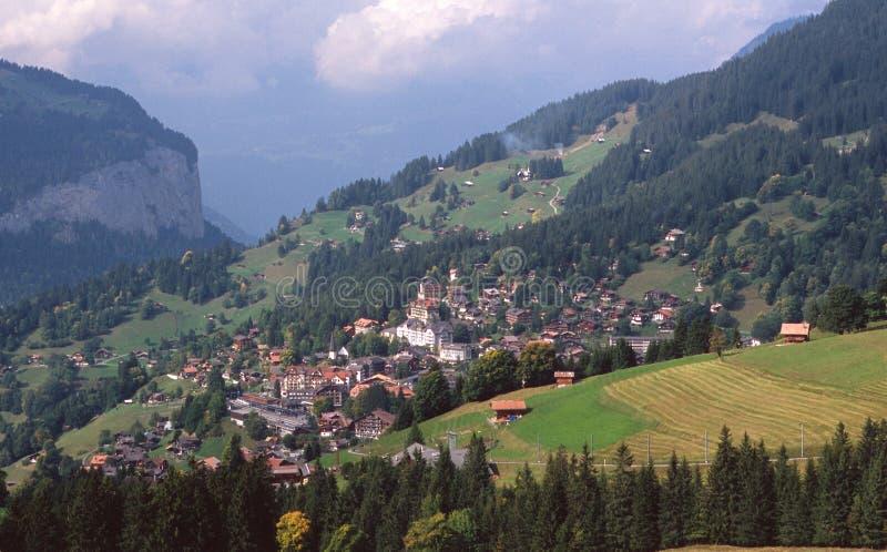 wioska Wengen szwajcarii obraz stock
