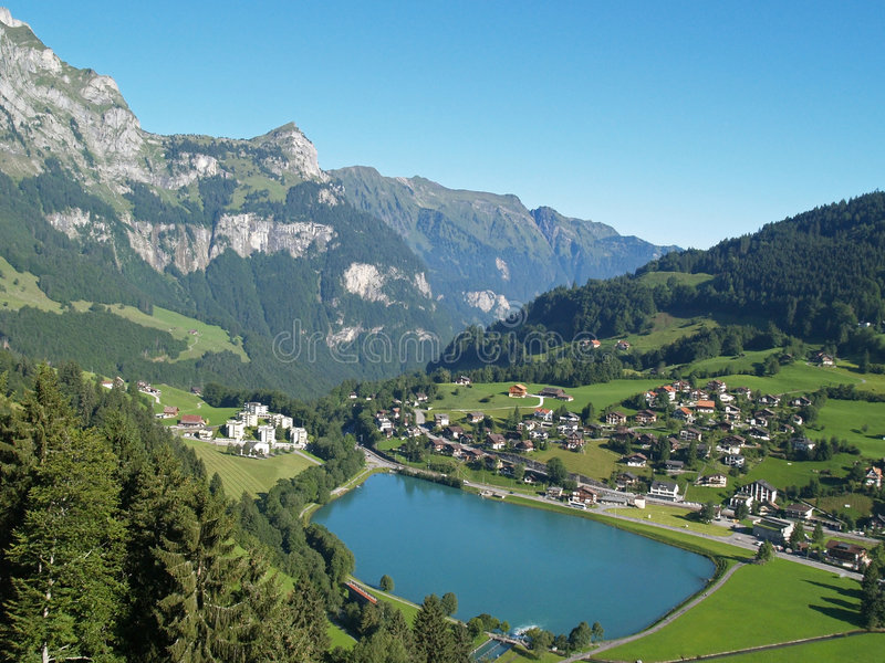 wioska wysokogórska obrazy royalty free