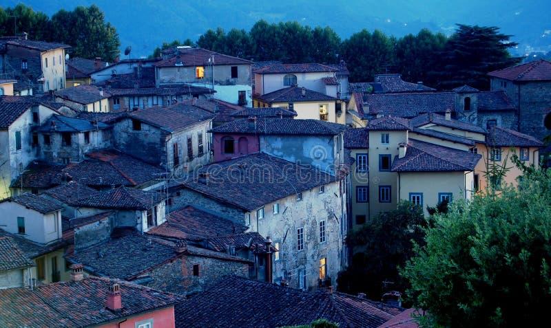 wioska zmierzchu Toskanii obrazy stock