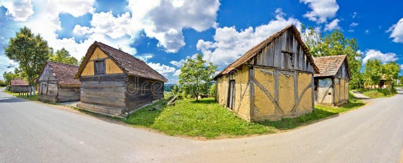 Wioski historyczna architektura w Chorwacja obraz royalty free