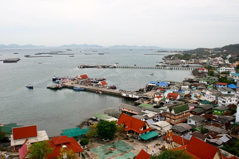 Odgórny widok koh sichang, wyspa zdjęcia stock