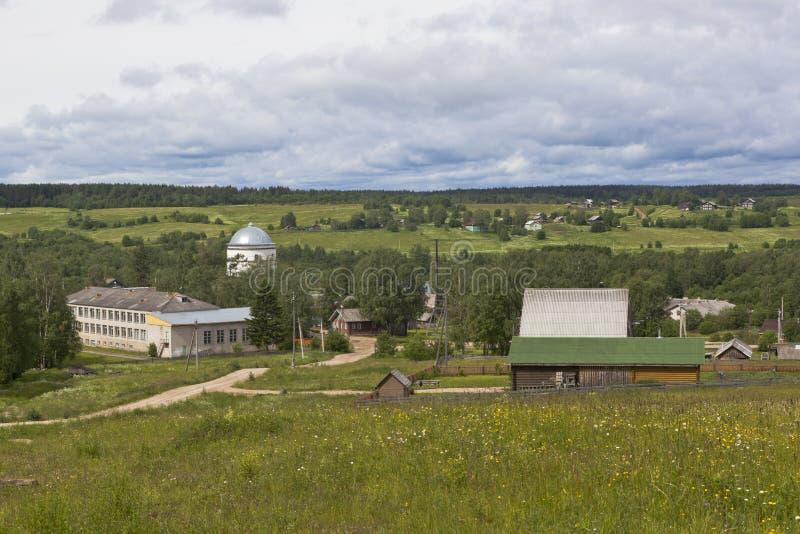 Wioski Morozovo Verkhovazhsky okręg, Vologda region zdjęcie stock