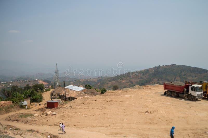 Wioski z wzgórze widokami, Rwanda obrazy stock