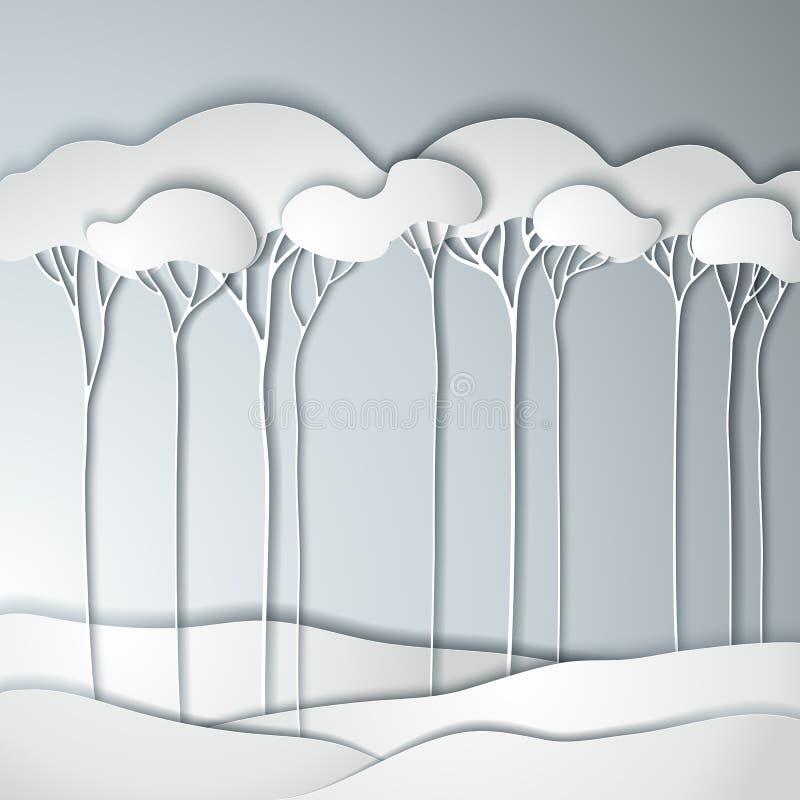 wiosna abstrakcjonistyczny drzewo ilustracji