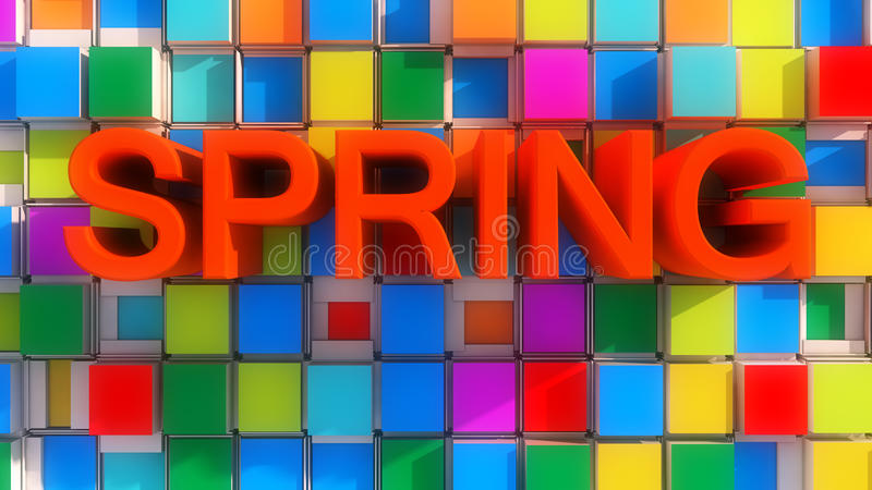 Wiosna abstrakta kolory royalty ilustracja