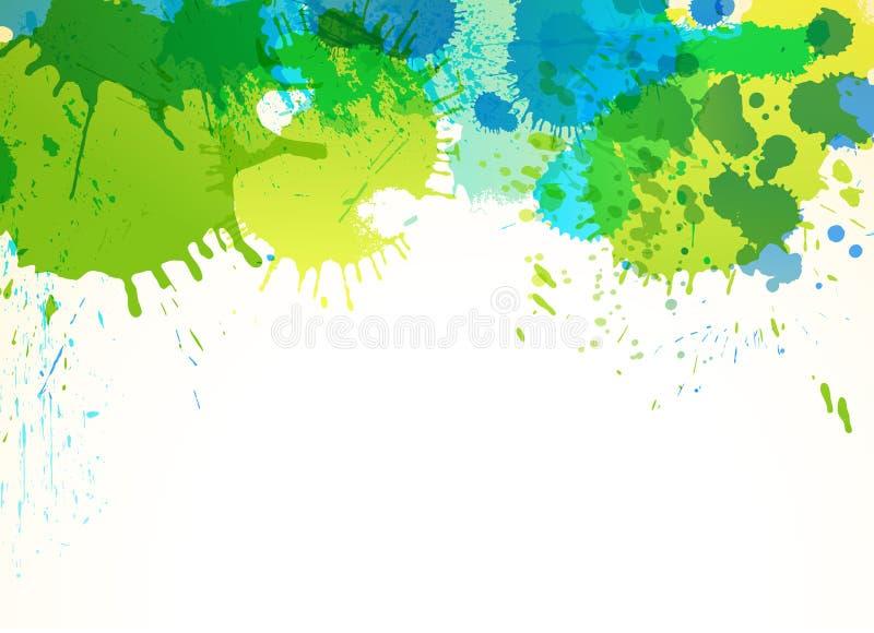 Wiosna barwi abstrakcjonistycznego tło ilustracja wektor