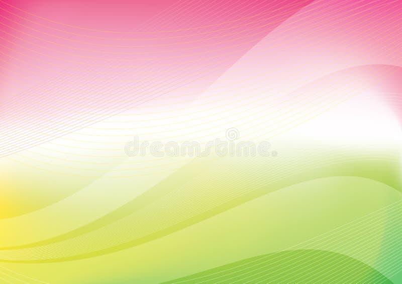 Wiosna colours abstrakcjonistycznego tło royalty ilustracja