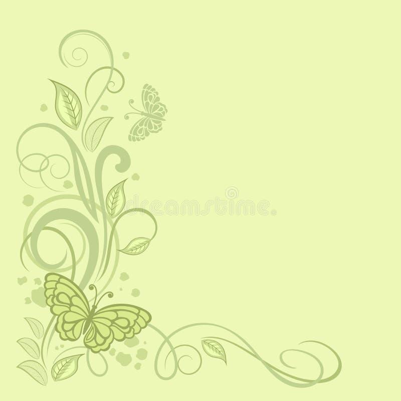 Wiosna karciany projekt z kwiecistym wzorem fotografia stock