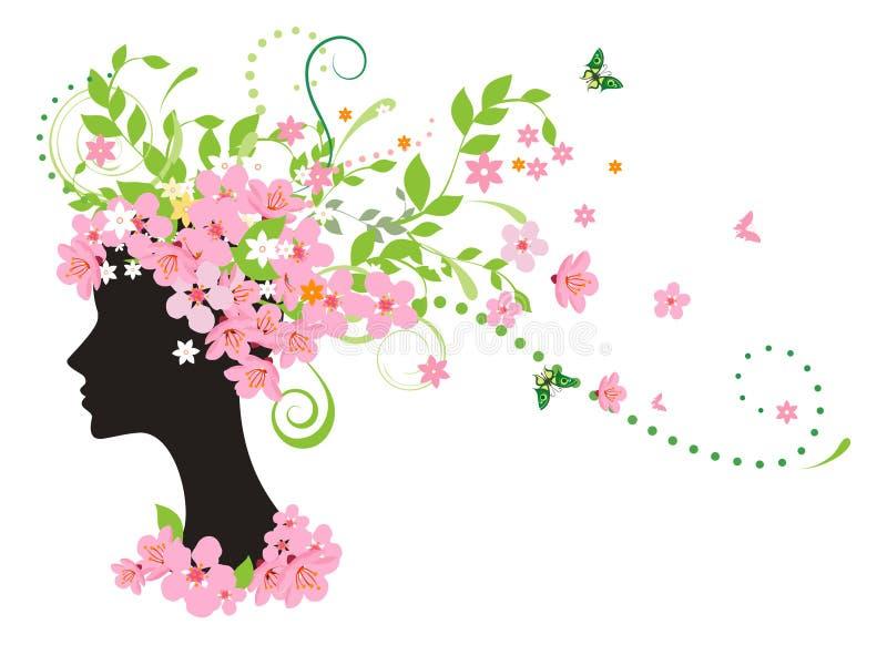 wiosna kobieta ilustracja wektor
