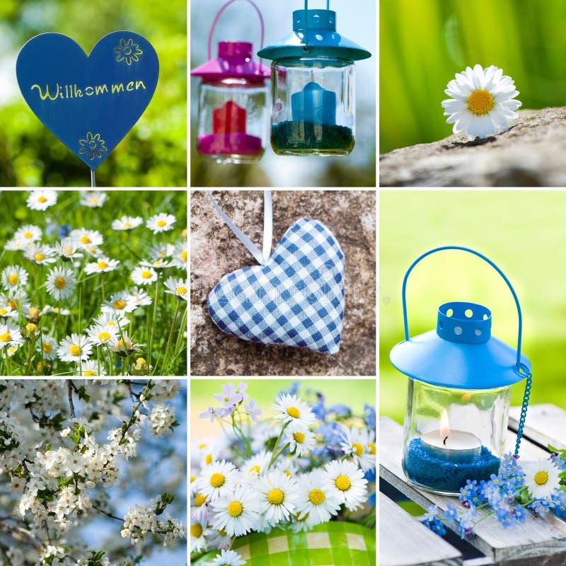 Wiosna kolaż fotografia stock