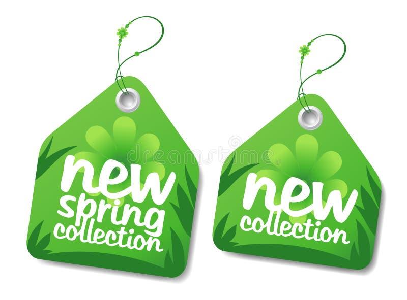 Wiosna kolekci etykietki. ilustracji