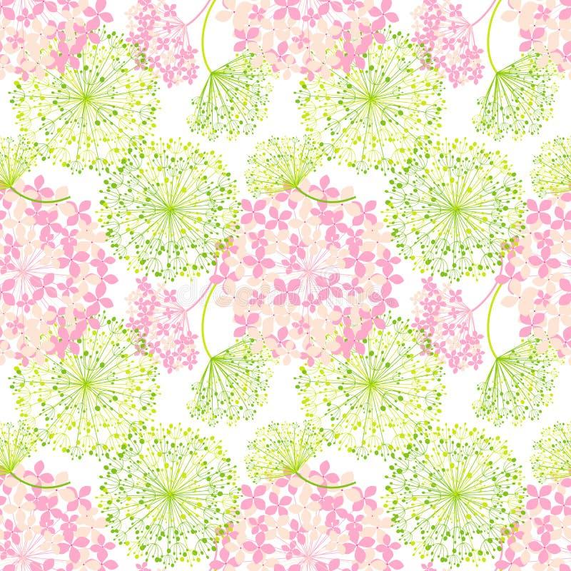 Wiosna Kolorowego kwiatu Bezszwowy wzór ilustracja wektor