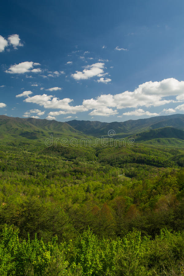 Wiosna krajobraz od pogórza Parkway zdjęcia stock