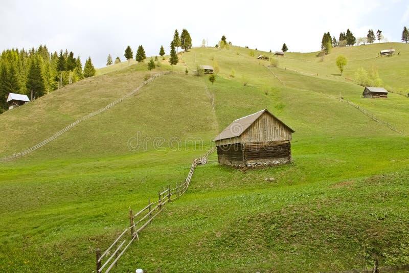 Wiosna krajobraz od wsi zdjęcie royalty free