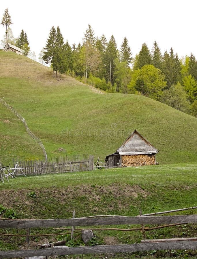 Wiosna krajobraz od wsi zdjęcia royalty free