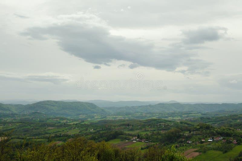 Wiosna krajobraz w Serbia fotografia royalty free