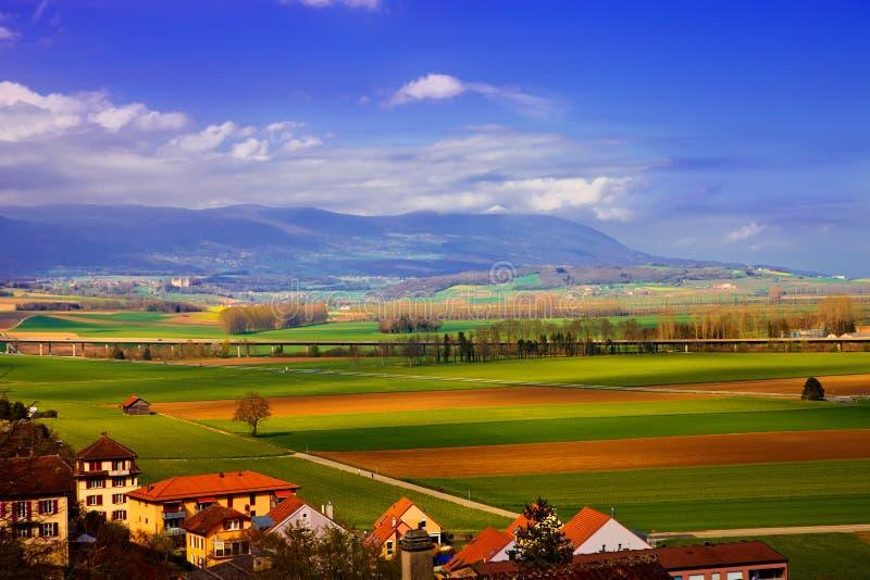 wiosna krajobrazowy szwajcar obraz stock