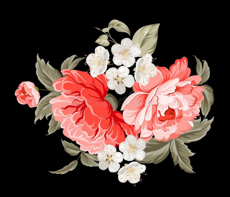 Wiosna kwitnie botaniczną kartę ilustracji