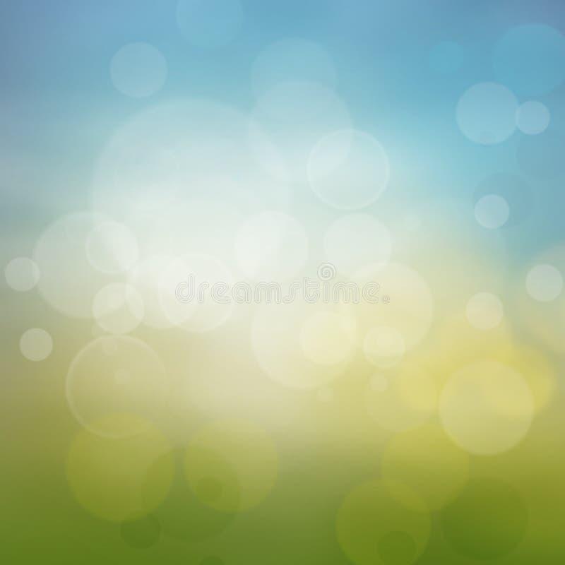 Wiosna lub lato abstrakta sezonu natury tło ilustracja wektor