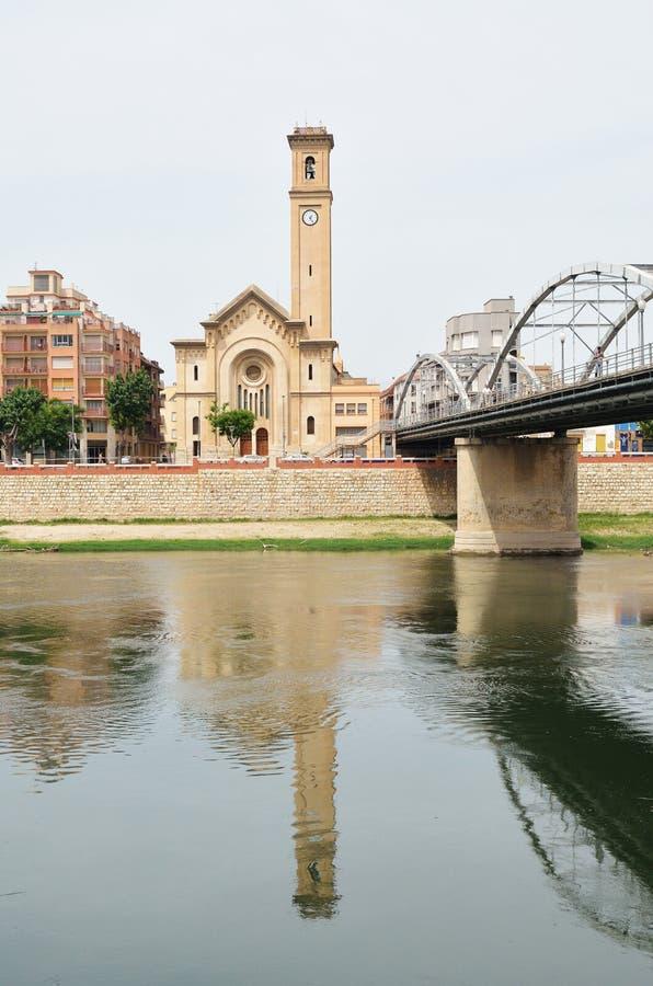 Wiosna pejzaż miejski Tortosa fotografia stock