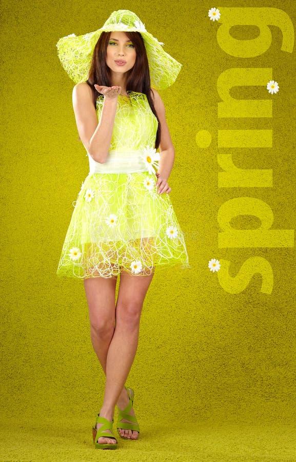 Wiosna piękna kobieta fotografia stock