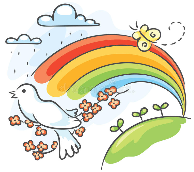 Wiosna rysunek ilustracji
