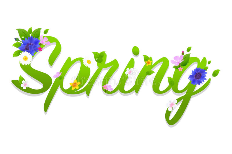 Wiosna tekst ilustracja wektor