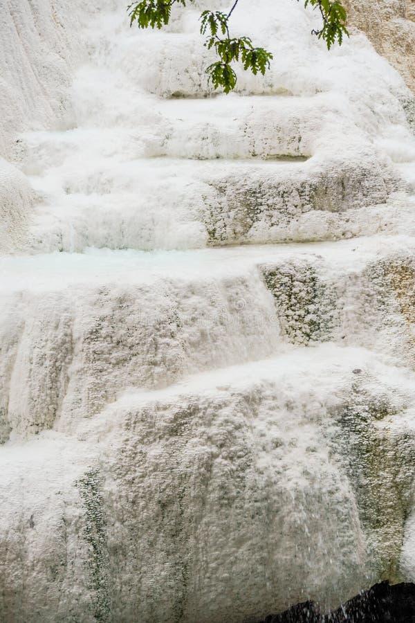 Wiosna termiczna woda Bagni San Filippo obraz stock