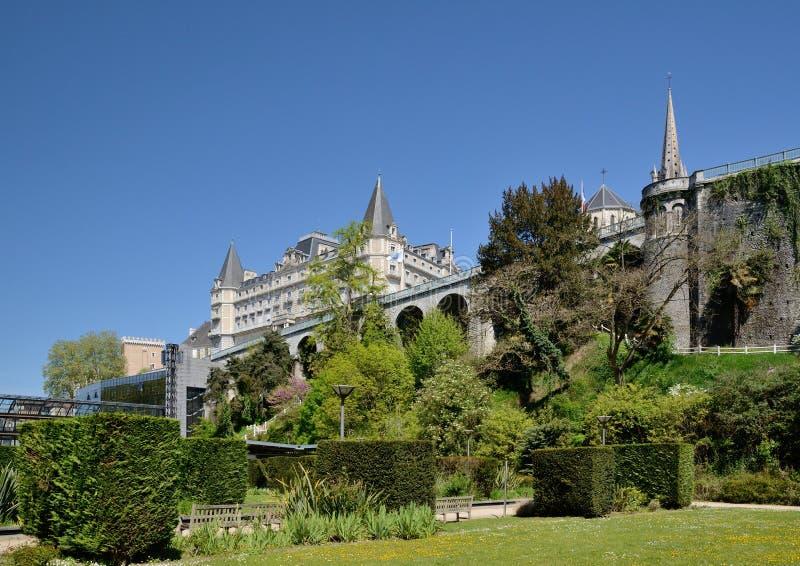 Wiosna widok Francuski miasto Pau zdjęcie stock