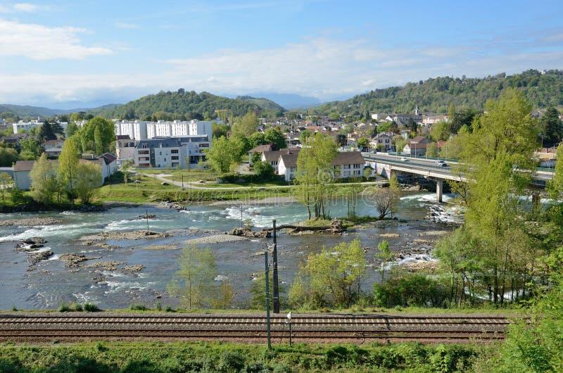 Wiosna widok Francuski miasto Pau zdjęcia royalty free